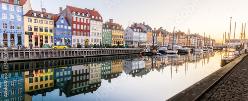 Morning in the Copenhagen Canal Nyhavn Canvas Print