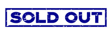 Grunge Blue Sold Out Wording S...