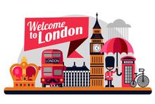 London Vector Flat Style Illus...