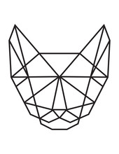Polygonal Cat Silhouette Vector. Triangle Animal. Abstract Vector Cat On The White Background.
