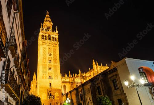 Fotografía  La Giralda, mosquée cathédrale de Séville en Andalousie, Espagne