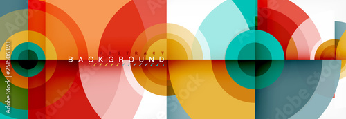 Fototapeta Abstract background circle design