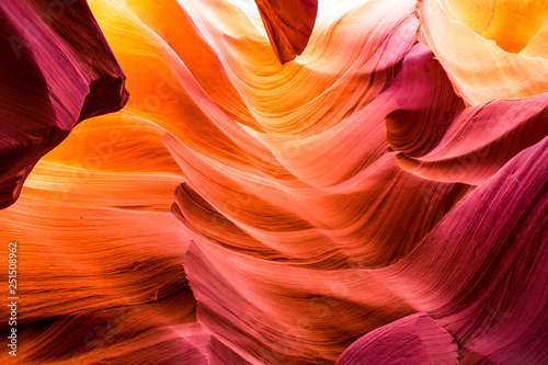 Fotobehang Natuur Park Beautiful view of Antelope Canyon sandstone formations in famous Navajo Tribal national park near Page, Arizona, USA