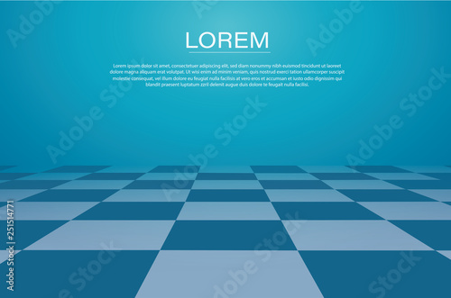 a perspective grid. chessboard background vector illustration Canvas Print