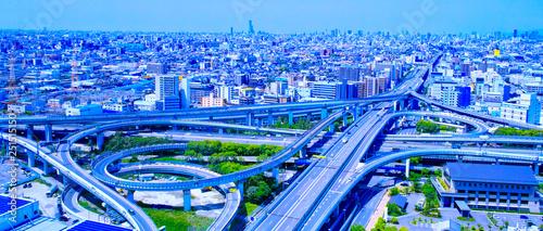 Obraz 高速道路のインターチェンジ - fototapety do salonu