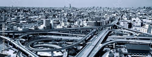 Fotomural 高速道路のインターチェンジ
