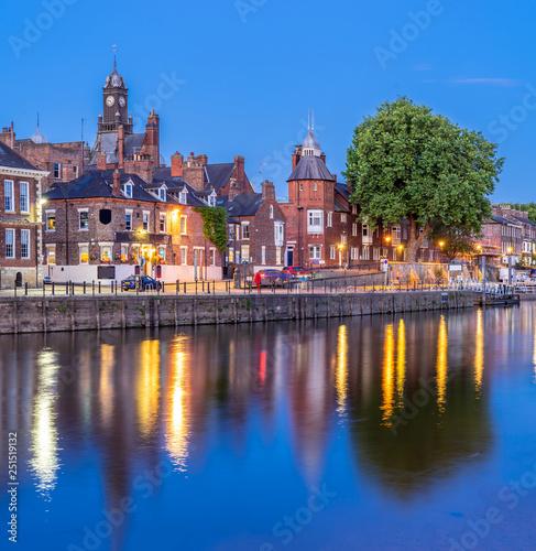 York cityscape England Sunset Canvas-taulu