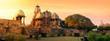 Leinwandbild Motiv Western Group of Temples at Khajuraho, Madhya Pradesh, India - A Unesco world heritage site