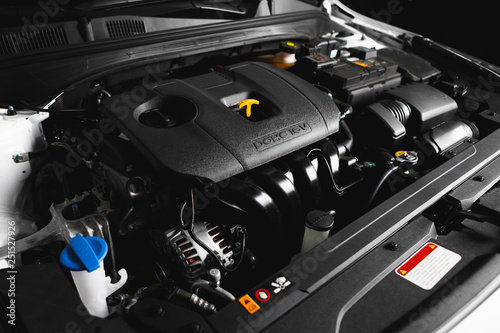 new car engine and parts Fototapet