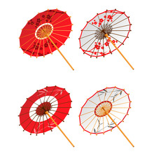 Asian Paper Umbrellas Isolated...