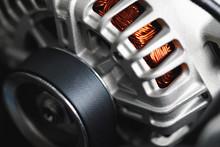 New Car Alternator, Close-up V...