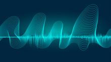 Line Soundwave Abstract Backgr...