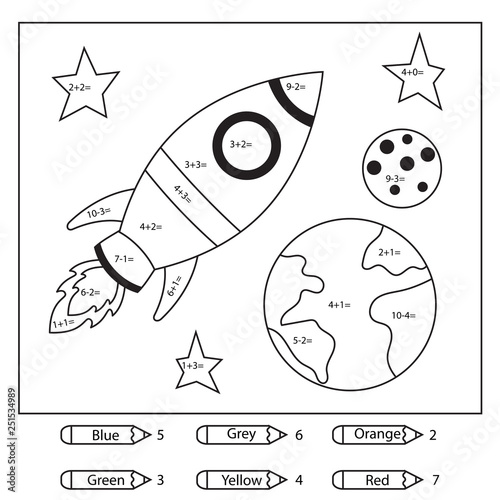 Educational coloring page for kids Canvas Print