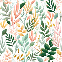 Seamless Floral Pattern With L...