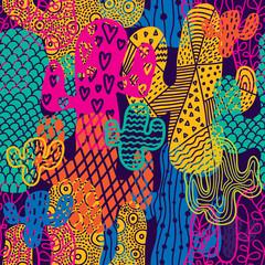 FototapetaCute cactus. Colorful seamless pattern.
