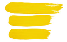 Strokes Of Yellow Paint