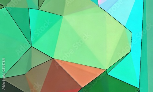 Conceptual abstract geometric background  Colored polygon