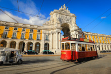 Touristic Tram At Praca Do Com...