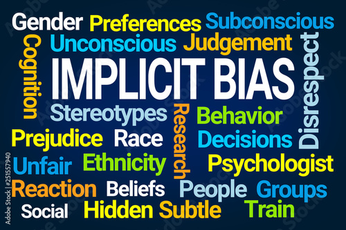 Fotografie, Tablou  Implicit Bias Word Cloud