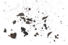 Burned And Charred Paper Scrap...