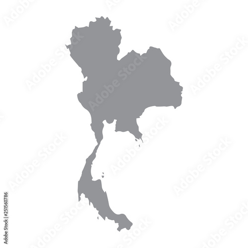 Photo Thailand map gray