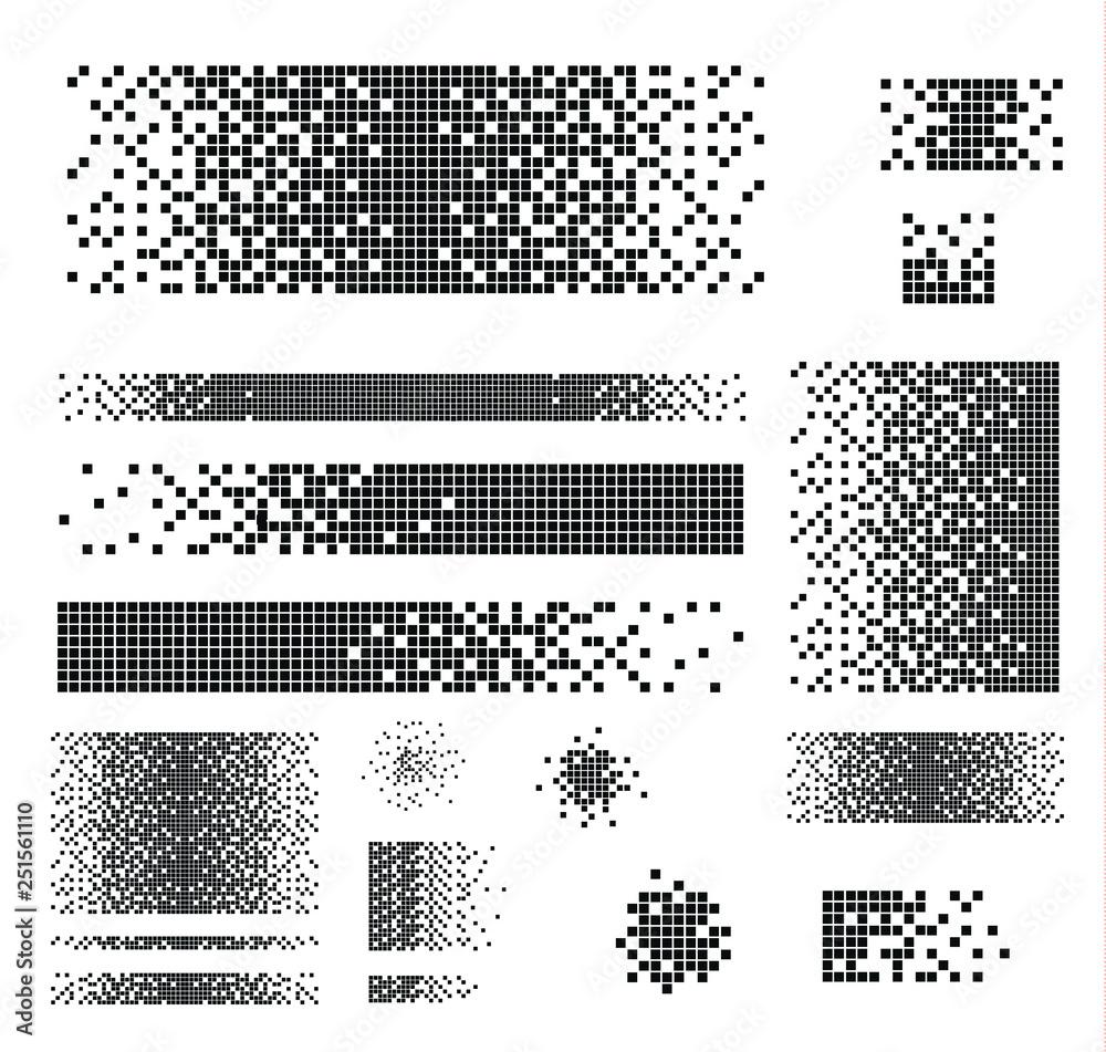 Fototapety, obrazy: Dissolved filled square
