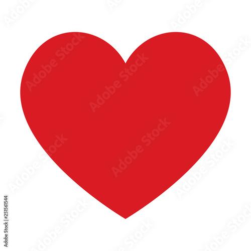 Fototapeta Red heart icon obraz na płótnie