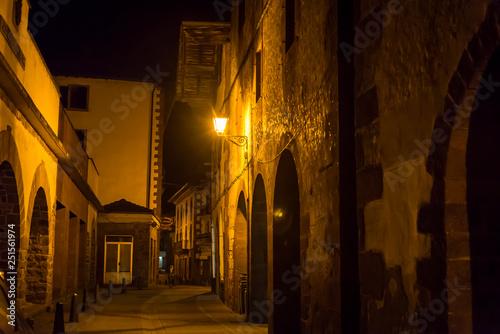 Fototapeten Schmale Gasse Atmospheric village of Baztan, Navarre, Northern Spain