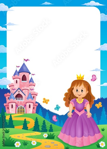Princess and castle composition frame 1
