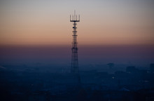 TV Tower At Sunrise. Minsk, Be...