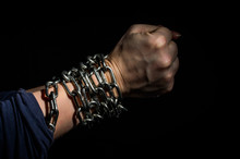 Hands Chained In Chains Isolat...