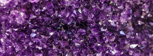 Amethyst purple crystal Canvas Print