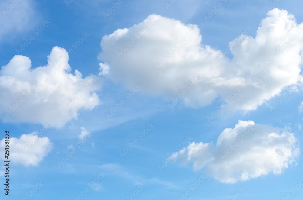 Leinwandbild Motiv - tonktiti : Blue sky and white clouds background.