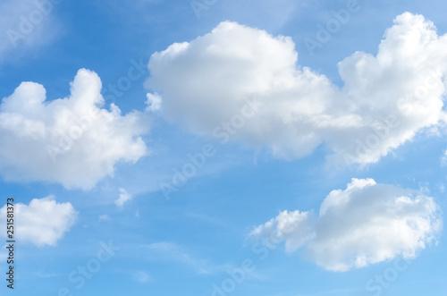 Fotografie, Obraz  Blue sky and white clouds background.