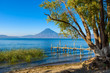 Lake Atitlan at Panajachel, Solola - Volcano Lake in Highland of Guatemala