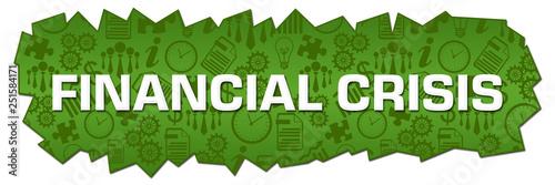 Fotografía  Financial Crisis Green Business Symbols Cutout Horizontal