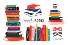World Book Day. Stack Of Books...