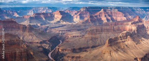 Stampa su Tela Grand Canyon aerial view.