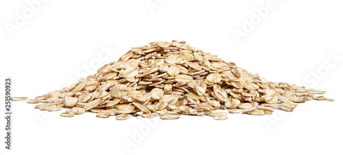 A pile of oat-flakes cut out. Canvas Print