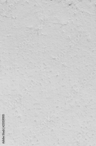 Texture of white foamed polystyrene foam sheet - Buy this stock