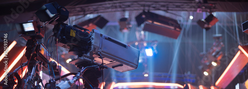 Photographie shooting a concert on television