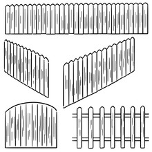 Vector Set Of Fence