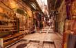 Leinwanddruck Bild - The Arabic suq in the historic old city of Jerusalem, Israel., Middle East