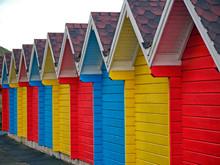 Colourful Beach Huts, Bridlington, Yorkshire