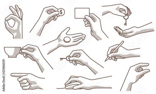 Valokuva  hand gestures set 2