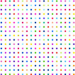 Multicolored points on white background