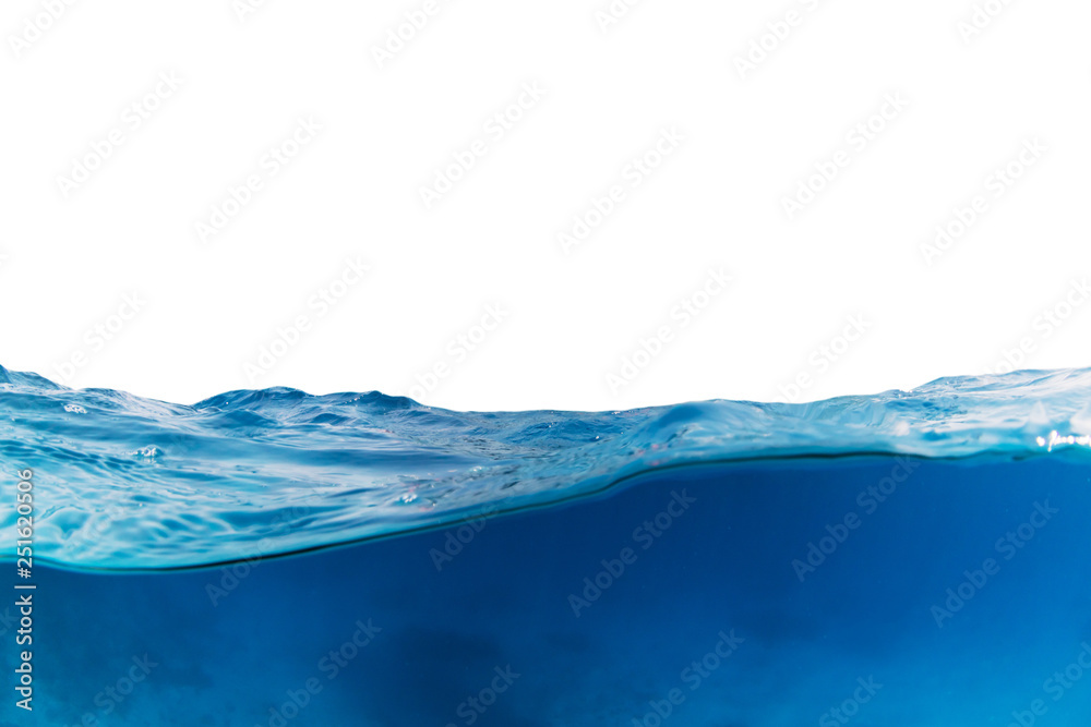 Fototapety, obrazy: Water wave isolated on white background