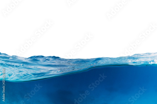 Photo  Water wave isolated on white background