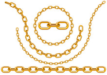 Gold Chains In Different Sizes And Forms