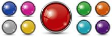 Redbutton With Chrome Frame